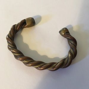 Metal copper bangle bracelet